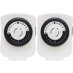 GE 15417 Indoor Plug-In 24-Hour Basic Mechanical Timers, 2 Pack