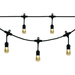 Enbrighten Cafe Vintage 35631 Vintage LED Cafe Lights (48ft; 24 Acrylic Bulbs)