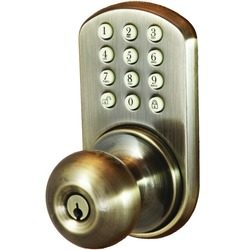 MORNING INDUSTRY INC HKK-01AQ Touchpad Electronic Doorknob (Antique Brass)