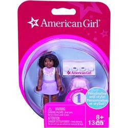 Mattel(R) DRC69 American Girl(R) Mini Figure (White Top & Purple Skirt)