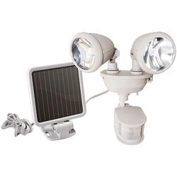 MAXSA Innovations 44218 Dual-Head Solar Spotlight (Off White)