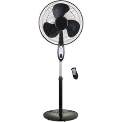 """Optimus F-1872BK 18"""" Oscillating Stand Fan with Remote"""