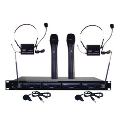 Category: Dropship Musical Instruments, SKU #PYLPDWM4300, Title: Pyle Pro PDWM4300 4-Channel VHF Wireless Rack-Mount Microphone System