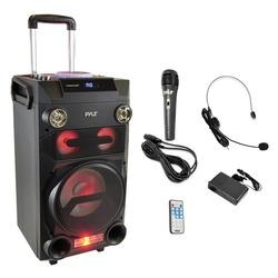 Category: Dropship Musical Instruments, SKU #PYRPWMA335BT, Title: Pyle Pro PWMA335BT Portable Bluetooth Karaoke Speaker Radio