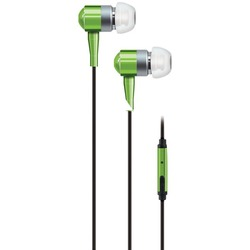 AT&T PEBM02-GRN PEBM02 In-Ear Aluminum Stereo Earbuds with Microphone (Green)