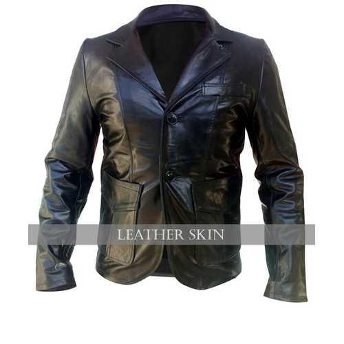 Black Men Leather Coat