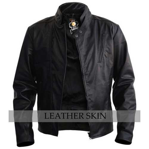 Black Iron Man Leather Jacket