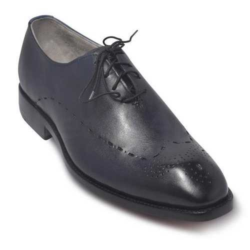 Men Blue Leather Shoes