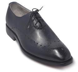 Men Blue Leather Shoes