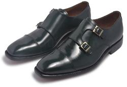 Men Green Leather Shoes