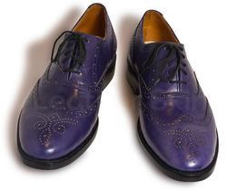 Men Purple Leather Shoes