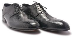 Croc Pattern Leather Shoes