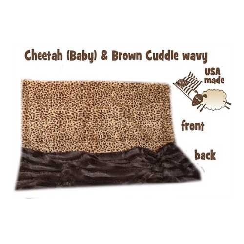 Brown Cheetah Carrier  Pet Blanket