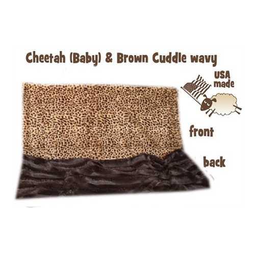 Brown Cheetah Carrier Pet Blanket