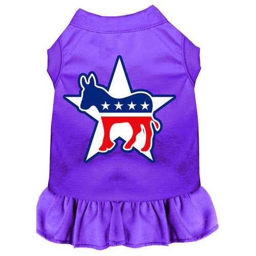 Democrat Screen Print Dress Purple XXL (18)