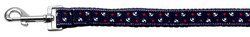 Anchors Nylon Ribbon Leash Blue 1 inch wide 6ft Long
