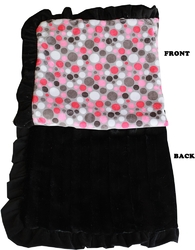 Category: Dropship New Arrivals, SKU #500-126 PkDtJB, Title: Luxurious Plush Pet Blanket Pink Party Dots Jumbo Size