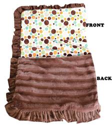 Category: Dropship New Arrivals, SKU #500-127 FlDtJB, Title: Luxurious Plush Pet Blanket Fall Party Dots Jumbo Size