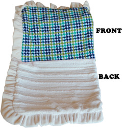 Category: Dropship New Arrivals, SKU #500-132 AqPdJB, Title: Luxurious Plush Pet Blanket Aqua Plaid Jumbo Size