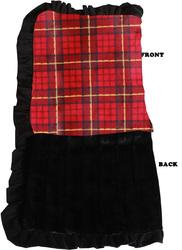 Category: Dropship New Arrivals, SKU #500-154 RPLJB, Title: Luxurious Plush Pet Blanket Red Plaid Jumbo Size
