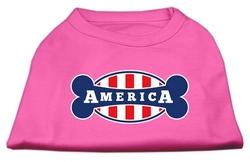 Bonely in America Screen Print Shirt Bright Pink XL (16)