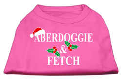 Aberdoggie Christmas Screen Print Shirt Bright Pink XS (8)