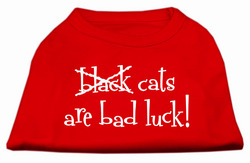 Black Cats are Bad Luck Screen Print Shirt Red XL (16)