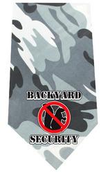 Back Yard Security Screen Print Bandana Grey Camo