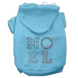 Noel Rhinestone Hoodies Baby Blue XS