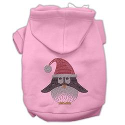 Santa Penguin Rhinestone Hoodies Pink XL