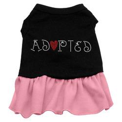 Adopted Rhinestone Dresses Black with Light Pink XXL (18)