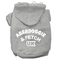 Aberdoggie UK Screenprint Pet Hoodies Grey Size XS (8)