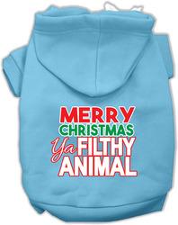 Ya Filthy Animal Screen Print Pet Hoodie Baby Blue Sm