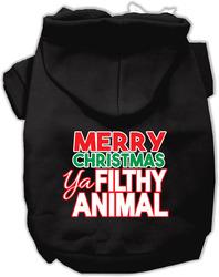 Ya Filthy Animal Screen Print Pet Hoodie Black Sm