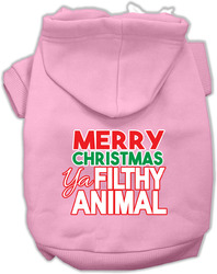 Ya Filthy Animal Screen Print Pet Hoodie Light Pink XL