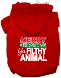 Ya Filthy Animal Screen Print Pet Hoodie Red XS