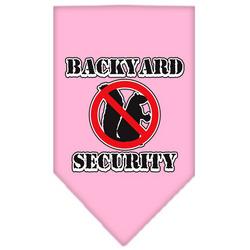 Backyard Security Screen Print Bandana Light Pink Large