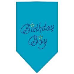 Birthday Boy Rhinestone Bandana Turquoise Large