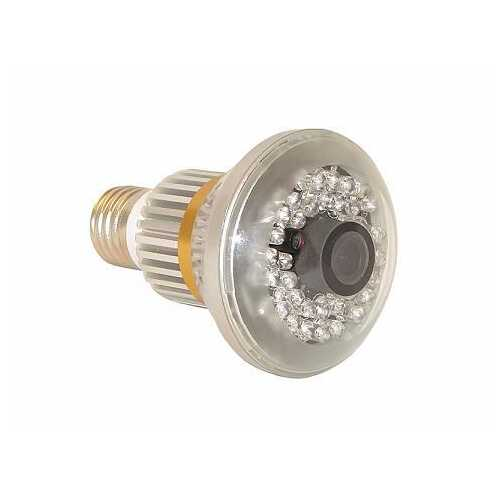 Bulb Shaped CCTV Security Nightvision Cam for Retail Store Protection