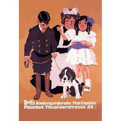 Boll's Kindergardenrobe (Children's Clothes) (Framed Poster)