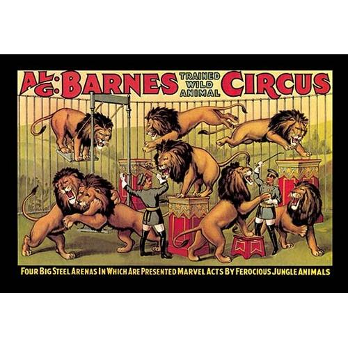 Al G. Barnes Trained Wild Animal Circus (Framed Poster)