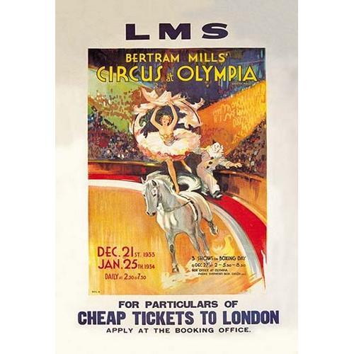 Bertram Mills' Circus at Olympia (Framed Poster)
