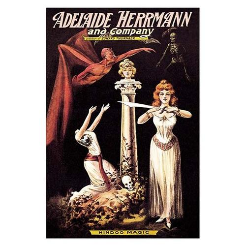 Adelaide Herrmann and Company: Hindoo Magic (Framed Poster)