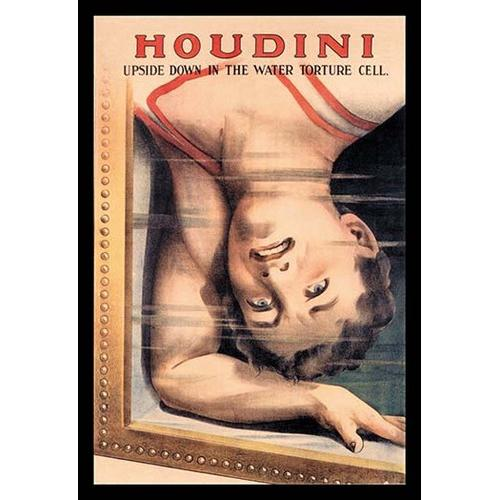 Houdini: Upside Down in the Water Torture Cell (Framed Poster)