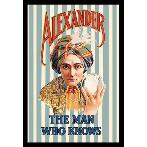 Alexander, The Man Who Knows (Framed Poster)