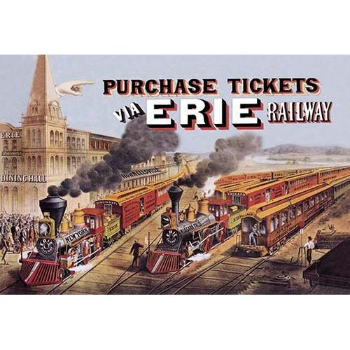 Purchase Tickets via Erie Railway (Paper Poster)