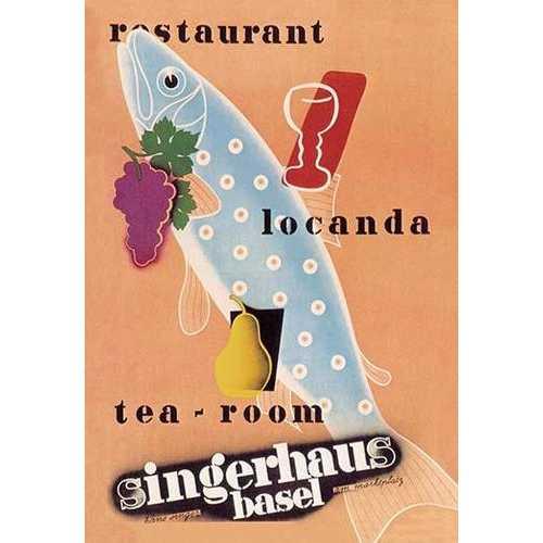 Singerhaus Basel: Restaurant, Locanda, Tea-Room (Fine Art Giclee)