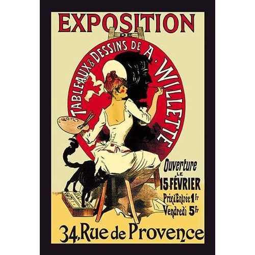 Exposition: Tableaux et Dessins de A. Willette (Canvas Art)