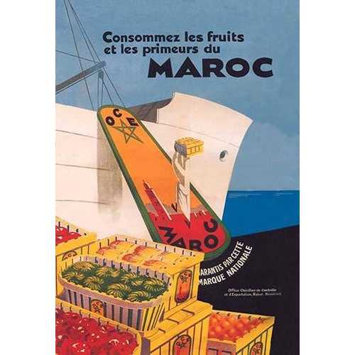 Eat the Fruit and Vegetable Products of Morocco (Paper Poster)