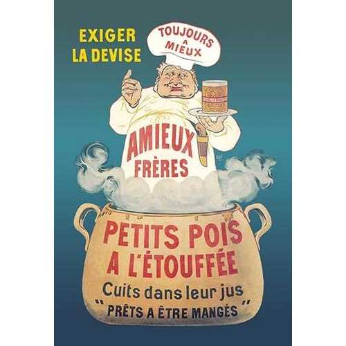 Amieux Freres - Petits Pois a l'Etouffee (Paper Poster)